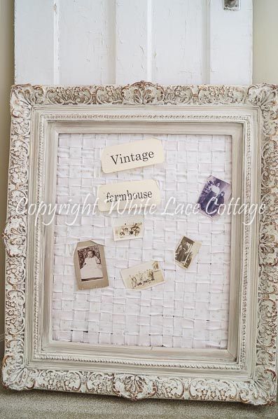 Shabby Chic Memo Board White Lace Cottage