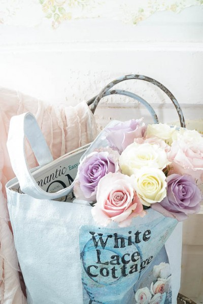 DIY Shabby Inspired Tote Bag