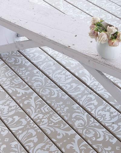 Stencil Painted Deck Floor Cutting Edge Stencils