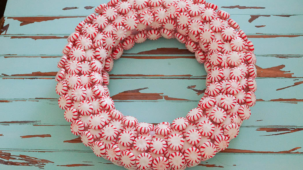 how to make a peppermint wreathwhite lace cottage