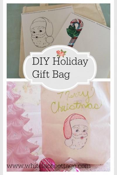 DIY Holiday Reusable Bag And A Giveaway!