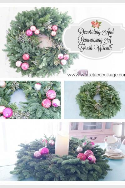 Decorating And Repurposing A Fresh Wreath