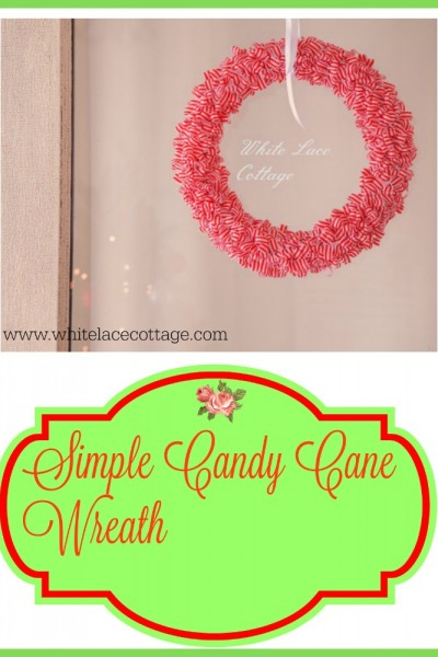DIY Candy Cane Wreath And Announcement