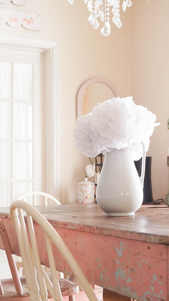 How To Make Tissue Paper Flowers White Lace Cottage