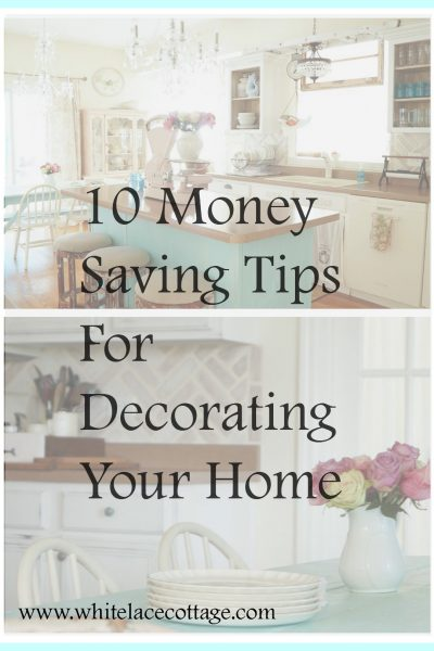 Sharing cheap and frugal money saving tips for decorating your home.