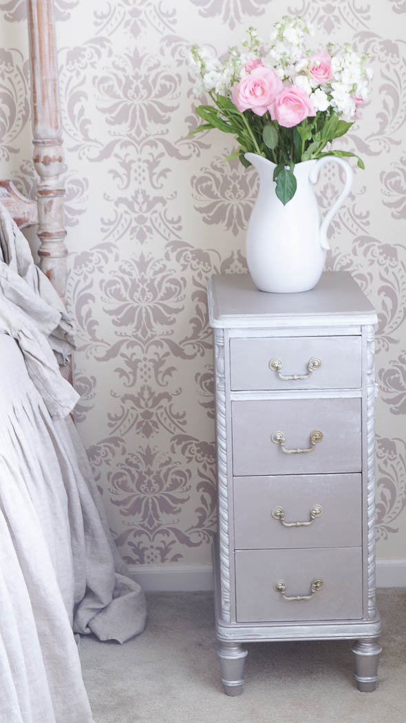 Repurpose A Desk Into Two Side Tables White Lace Cottage