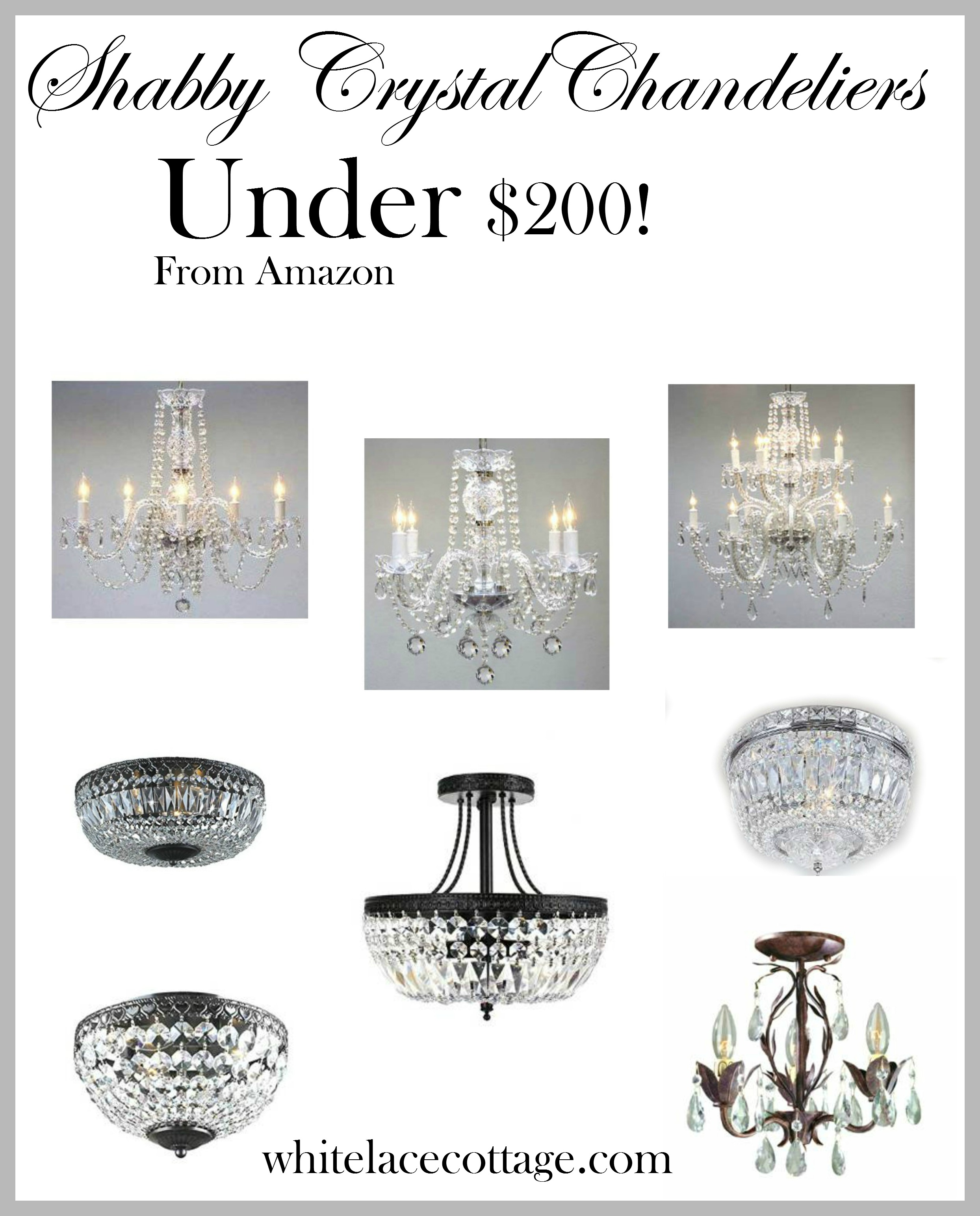 new arrivals 5a0ff a5422 Crystal Chandelier Ideas For Under $200 - White Lace Cottage