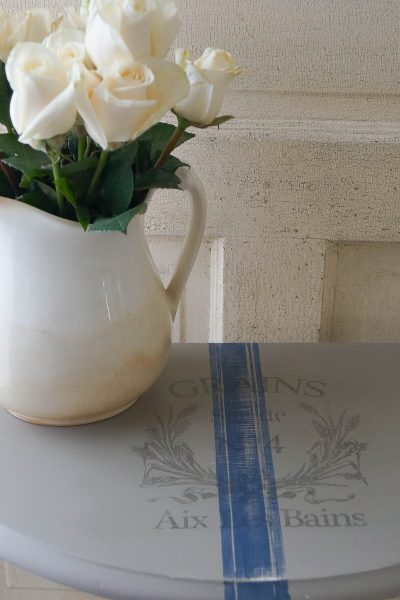 How To Paint A Grain Sack Stripe For A French Look