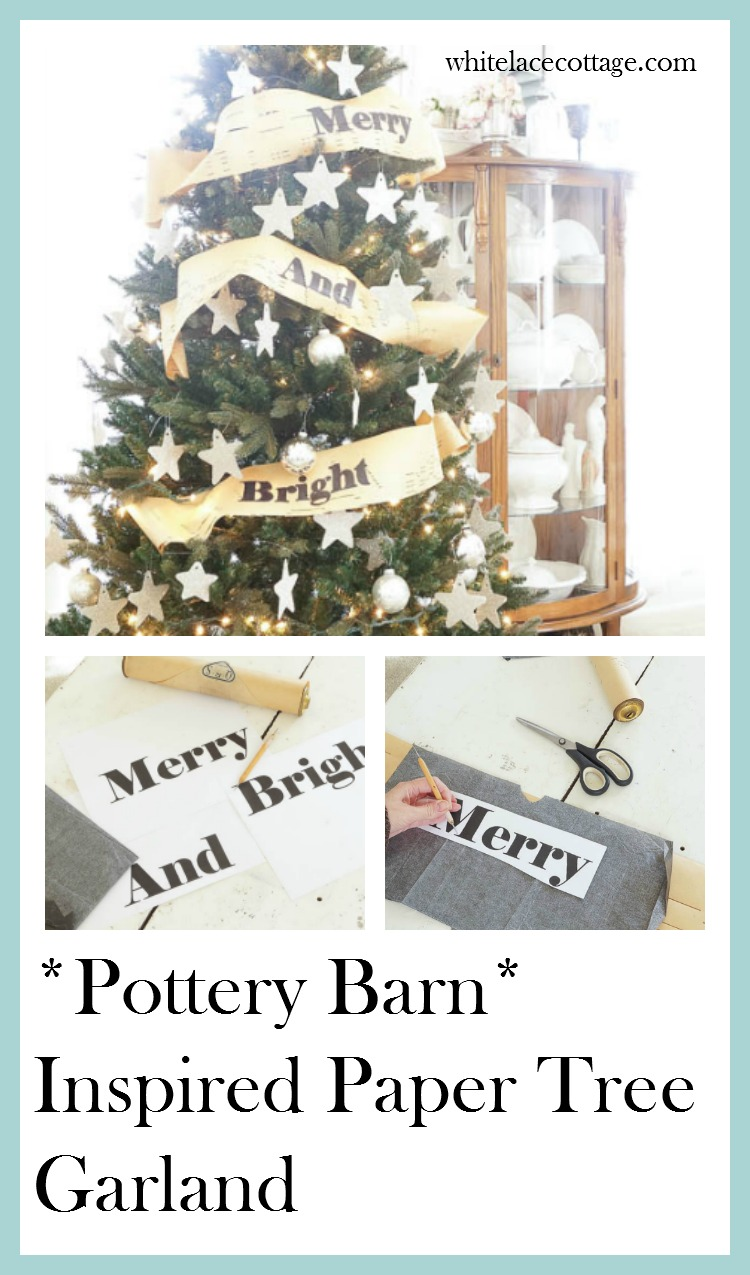 Christmas Tree Garland (Pottery Barn Inspired) - White Lace Cottage