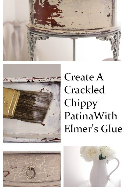 Create A Crackled Distressed Look Using Elmer's Glue