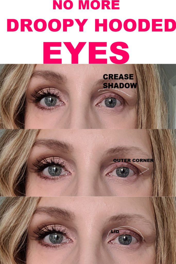 MAKEUP FOR DROOPY HOODED EYES